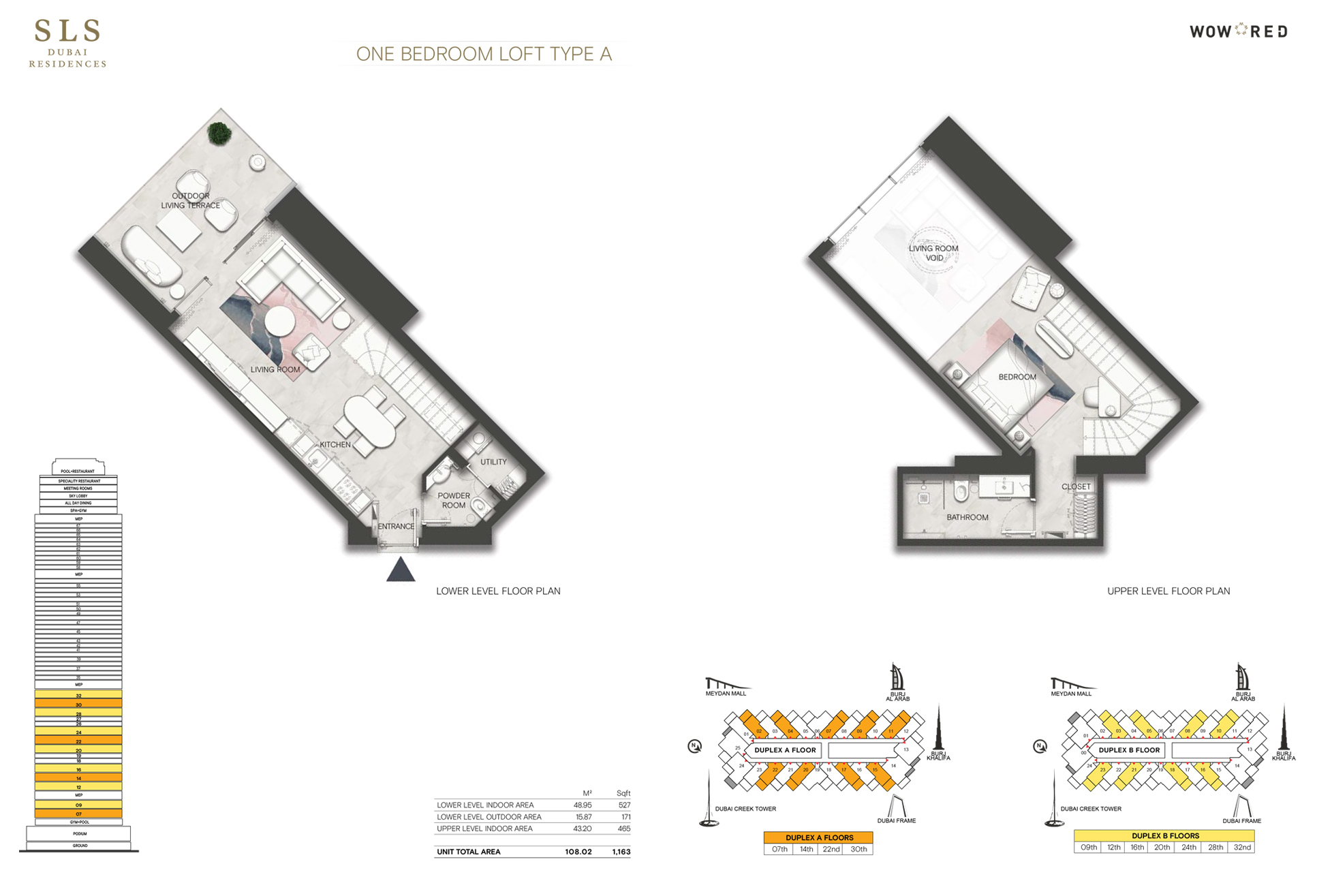 SLS Residences 1 Bedroom Loft Type A